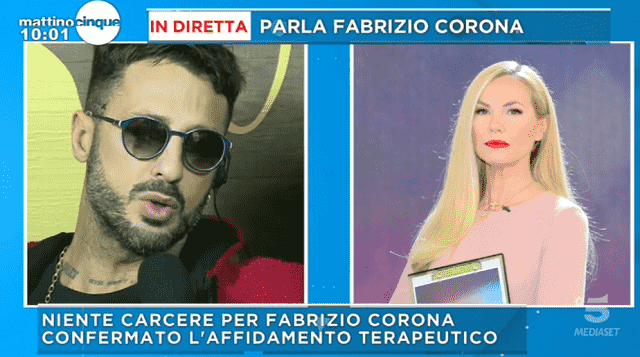 Mattino 5: scontro tra Fabrizio Corona e Alessandro Cecchi Paone