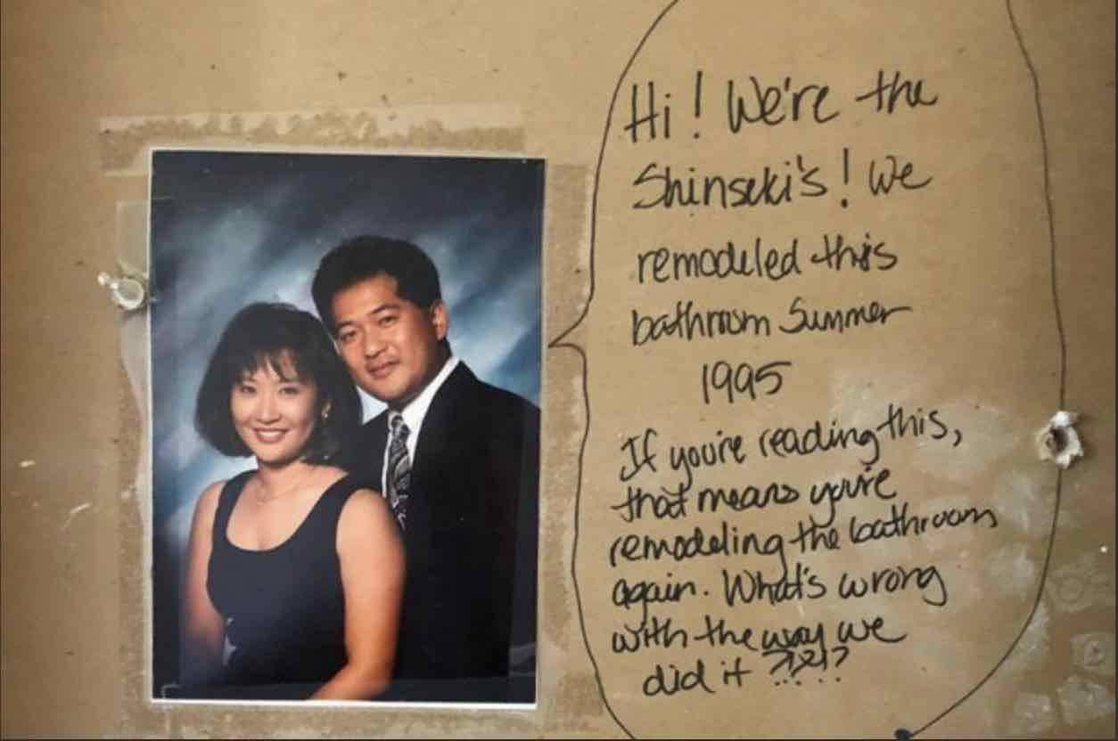 messaggio nel muro