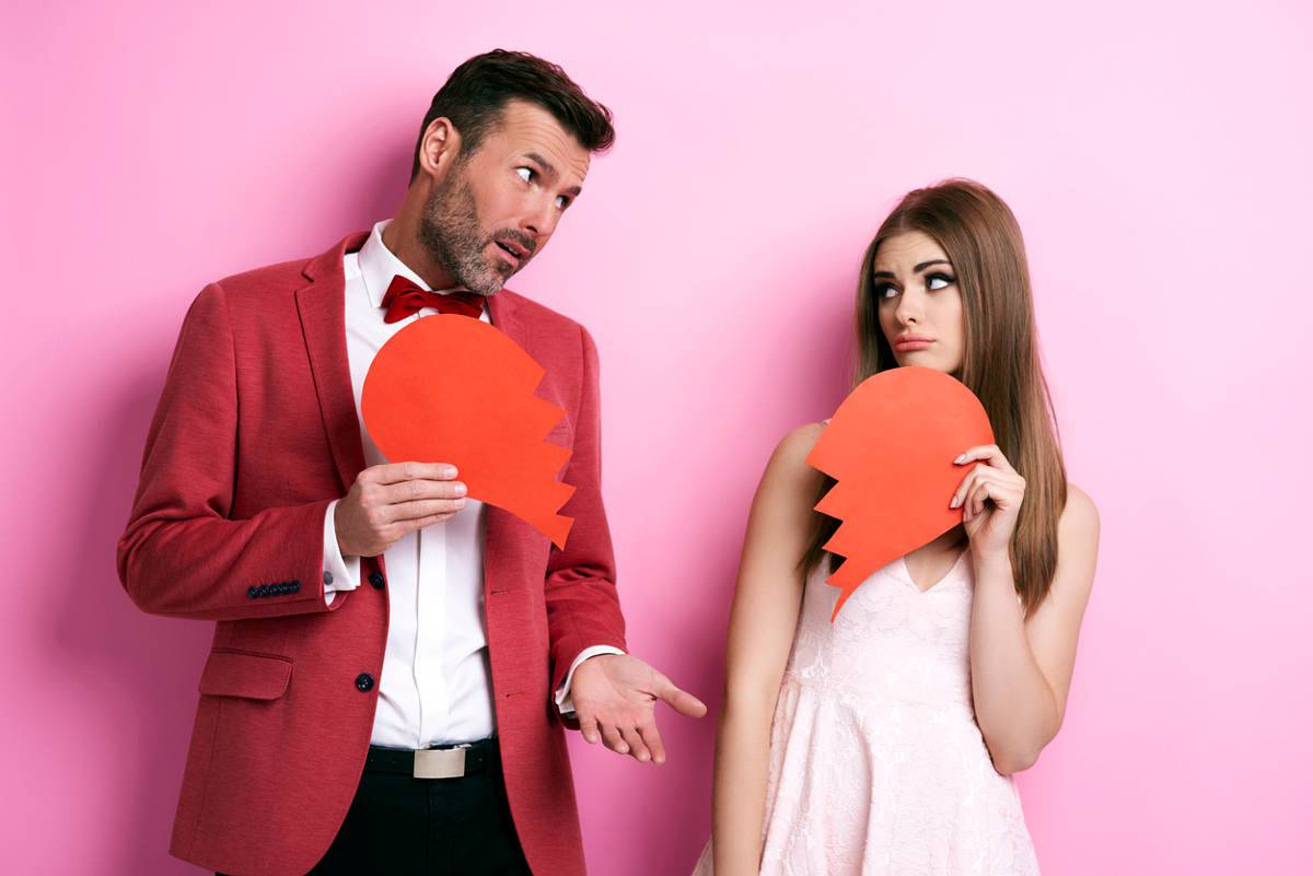 coppia in crisi a San Valentino
