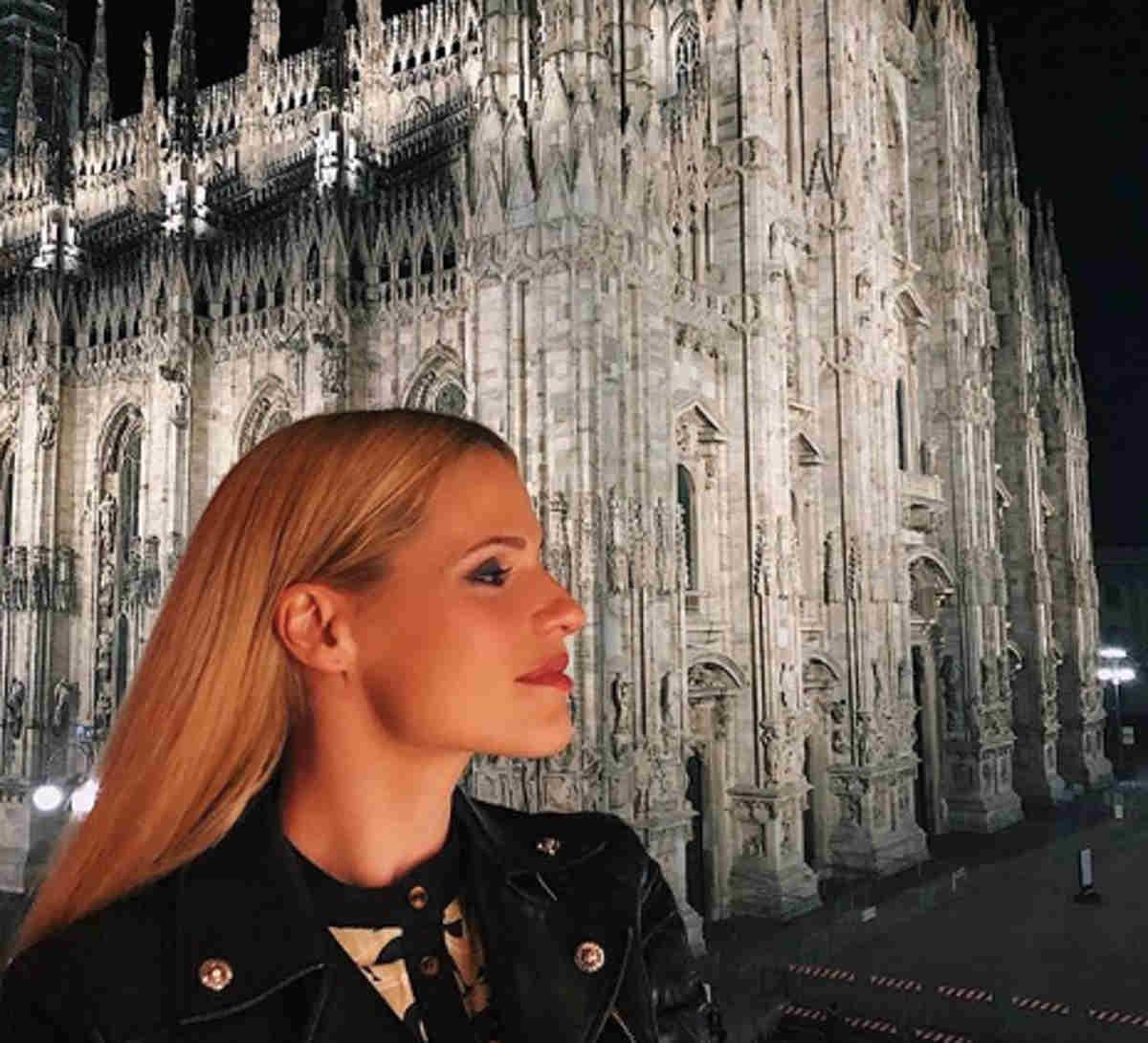 Michelle Hunziker post su Milano