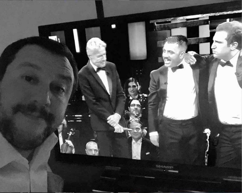 Matteo Salvini sanremo