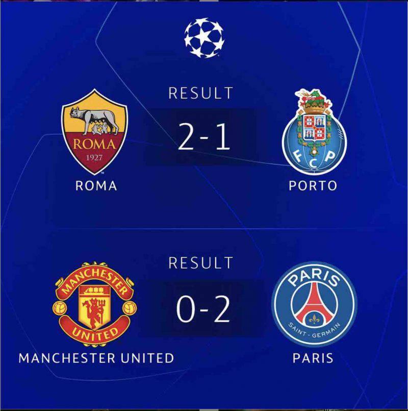 champions league risultati
