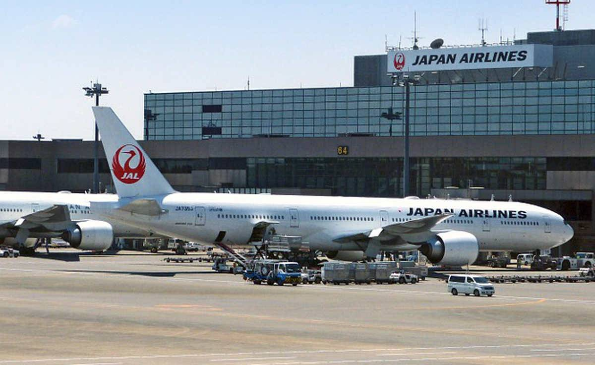 Aereo fuori pista a Tokyo