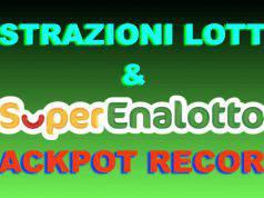 Estrazione Lotto 10elotto superenalotto oggi febbraio 2019 numeri vincenti diretta video