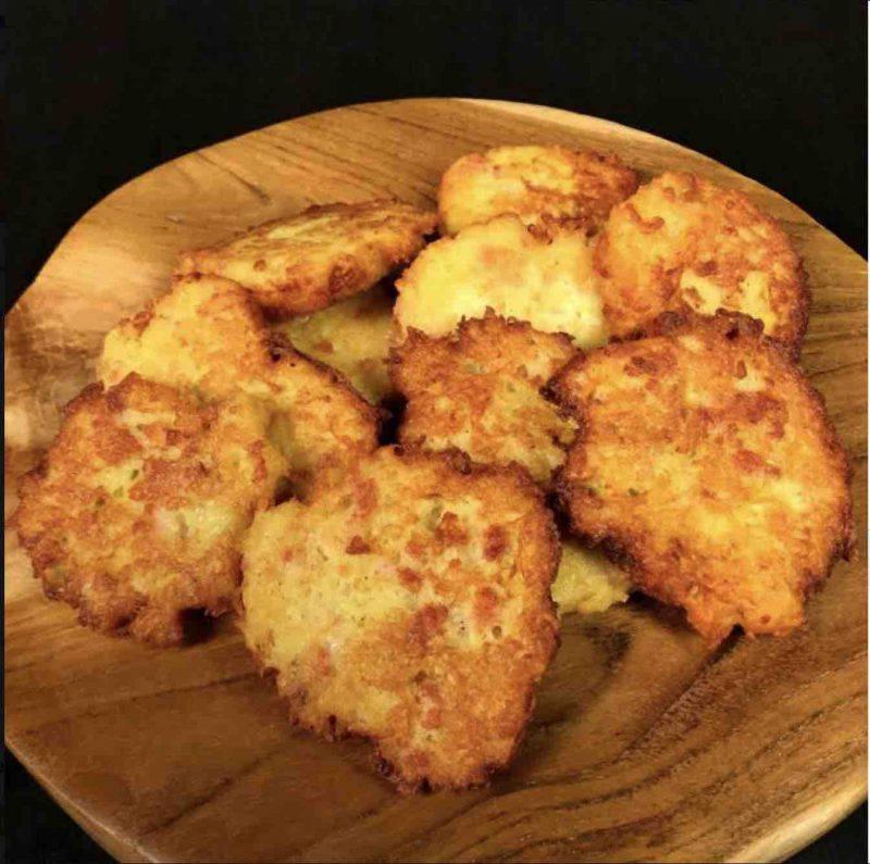 frittelle patate e pancetta
