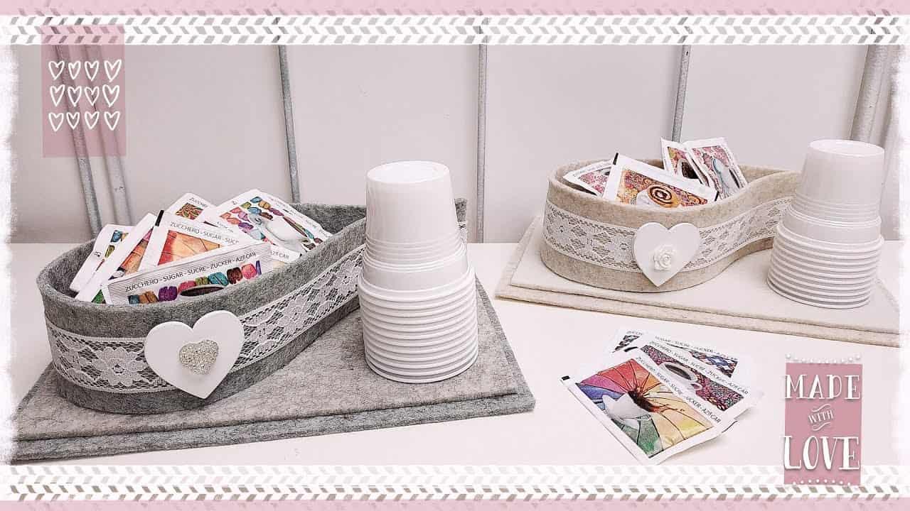 Come realizzare un set da caffè in feltro per la festa della mamma