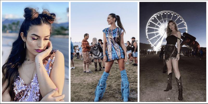 Nilufar Addati, Cecilia Rodriguez e Beatrice Valli Coachella