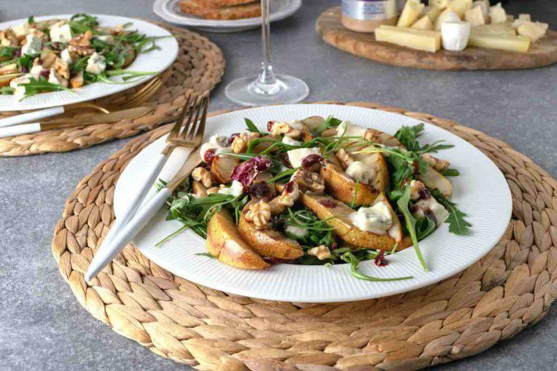 contorno noci pere gorgonzola
