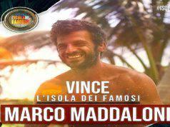 maddaloni vincitore isol DEI FAMOSI 2019