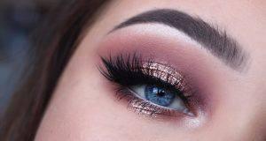 Rose Gold Glitter makeup