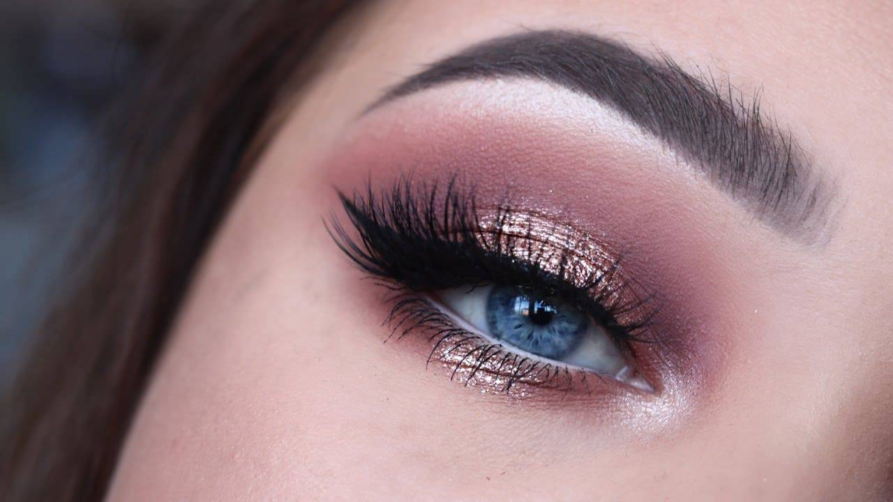 Rose Gold Glitter makeup