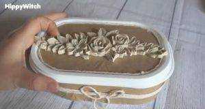 come realizzare un porta anelli con una vaschetta di gelato