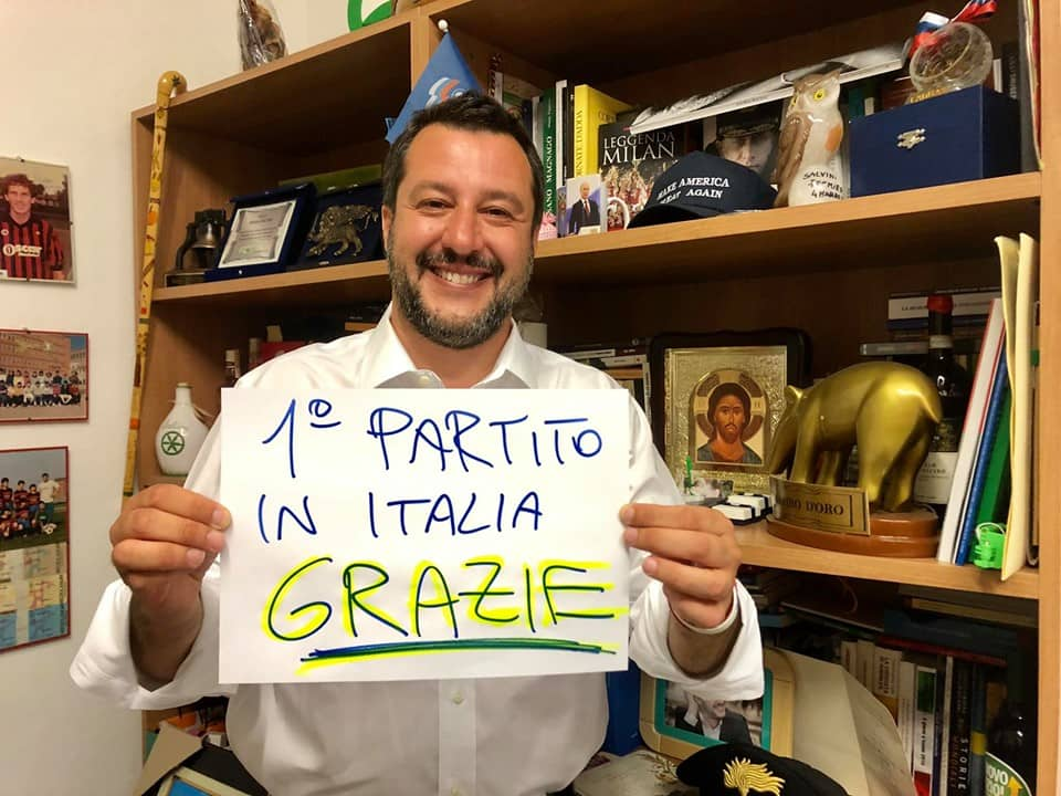 "Elezioni Europee: Matteo Salvini: ""Grazie Italia"""