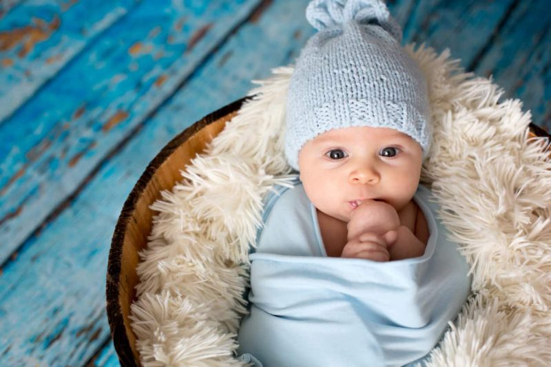 neonato a casa