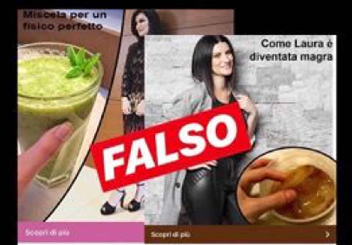 Laura Pausini pubblicità false