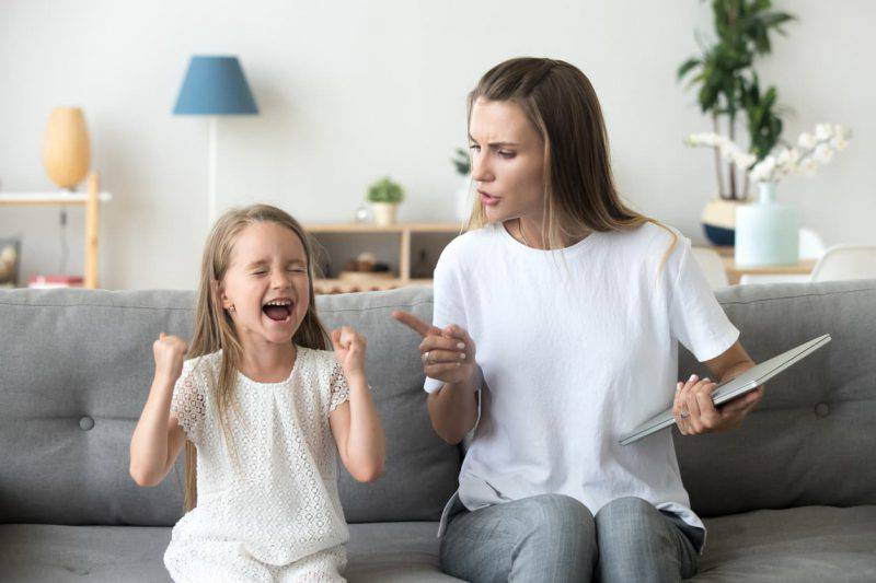 Bambini che ridono di fronte al rimprovero