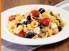 menu di agosto: pasta fredda alla greca