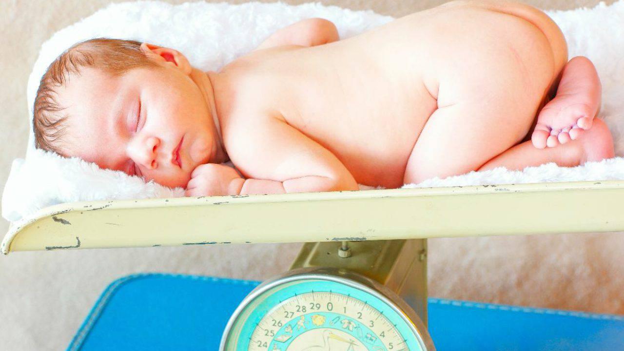 perdita di peso media neonata