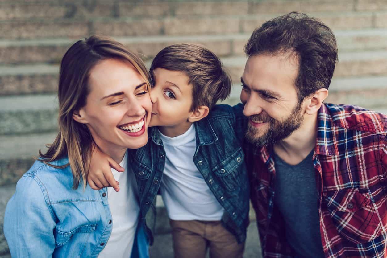 genitori e bambino