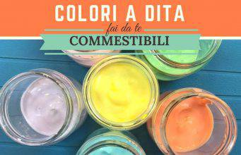 Colori a dita commestibili fai da te-VIDEO-