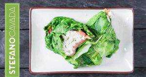 Menu di Agosto: roll di lattuga, salmone e risO