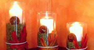 candele autunnali con i legumi