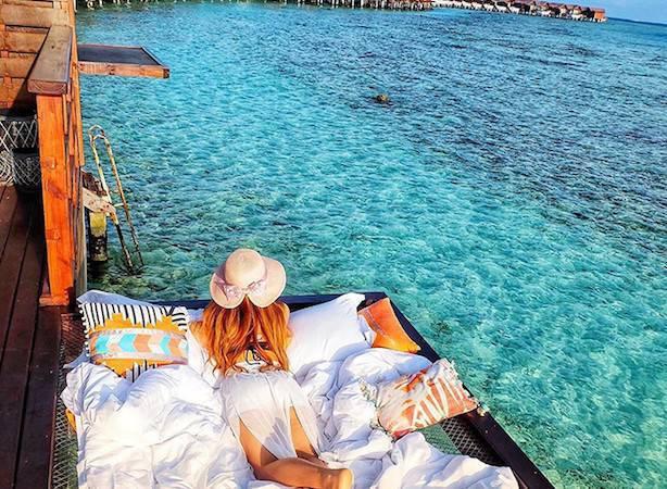 Dormire sull'acqua alle Maldive