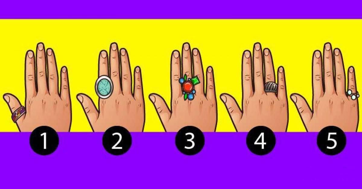 Test psicologico: scopri cosa rivela il dito che usi per indossare gli anelli