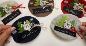 Natale fai da te: segna posto in feltro