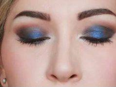 Christmas makeup: smokey eye blu e marrone