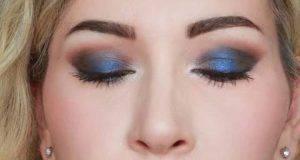 Christmas makeup: smokey eye blu e marrone
