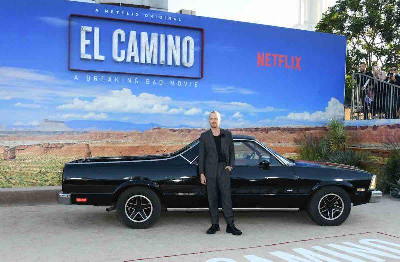 Aaron Paul alla premiere di El Camino