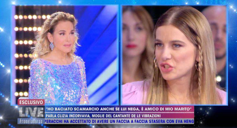 Barbara d'Urso e Clizia in diretta