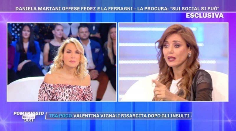 Barbara d'Urso e Daniela Martani in studio