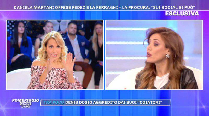 Barbara d'Urso rimprovera Daniela Martani