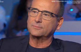 Carlo Conti piange a Domenica In: il ricordo della mamma scomparsa
