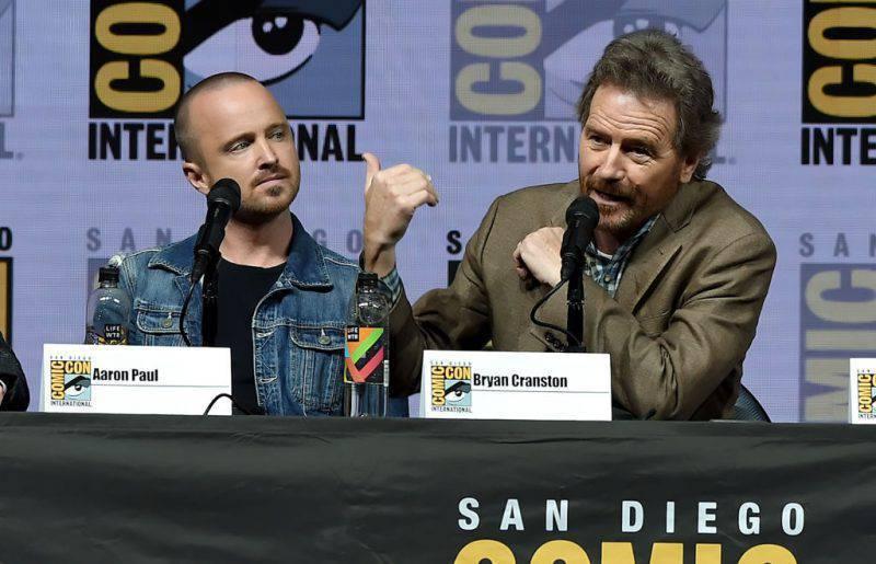 "Aaron Paul e Bryan Cranston, protagonisti di ""Breaking Bad"" (Getty Images)"