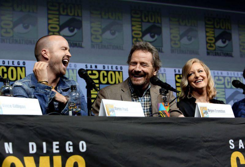 """Parte del cast di """"Breaking Bad"""" al Comic-Con 2018 (Getty Images)"""
