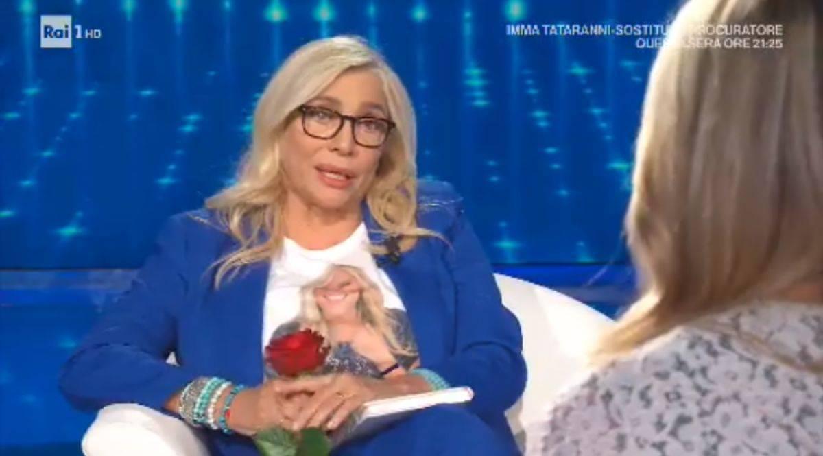 Mara Venier intervista la Santarelli