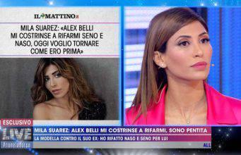 Mila Suarez a Live Non è la d'Urso: la confessione su Alex Belli