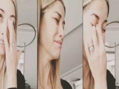 elena santarelli piange su instagram
