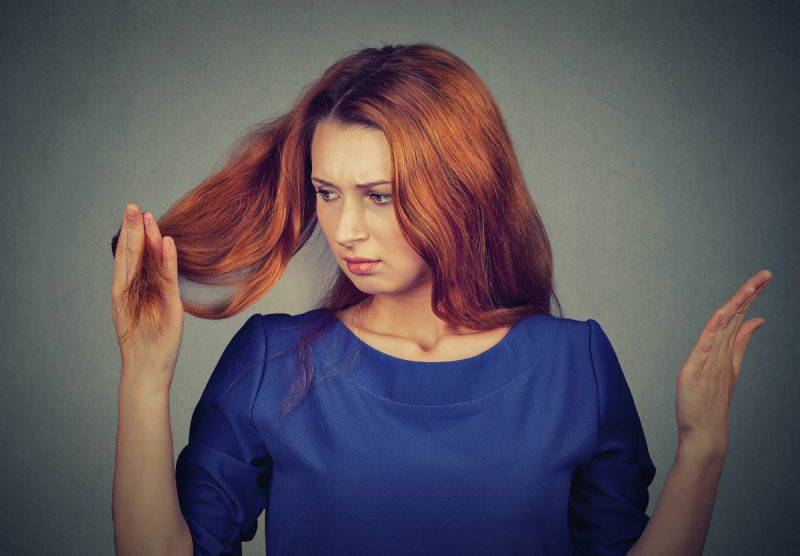 olio di menta capelli