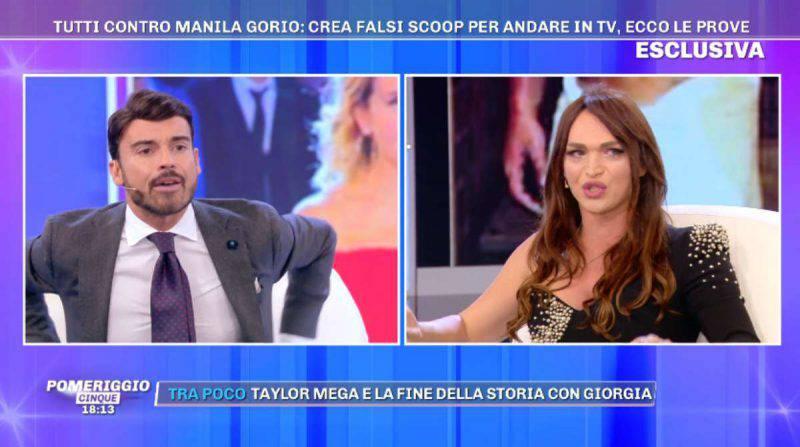 Francesco Fredella e Manila Gorio litigano