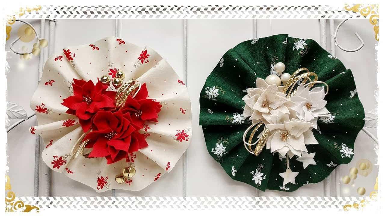 Diy: fuori porta natalizio plissettato