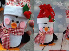 Diy: pinguini natalizi con bottiglie di plastica