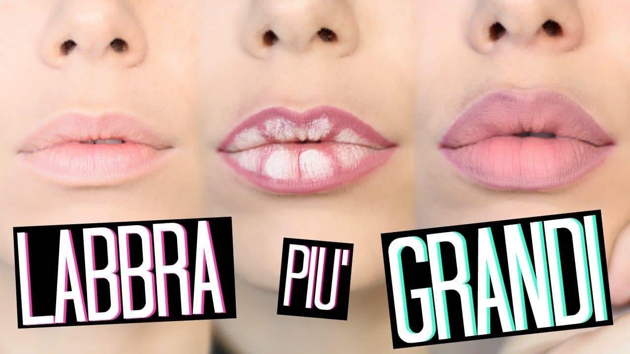 makeup. labbra effetto 3D con il lip contouring