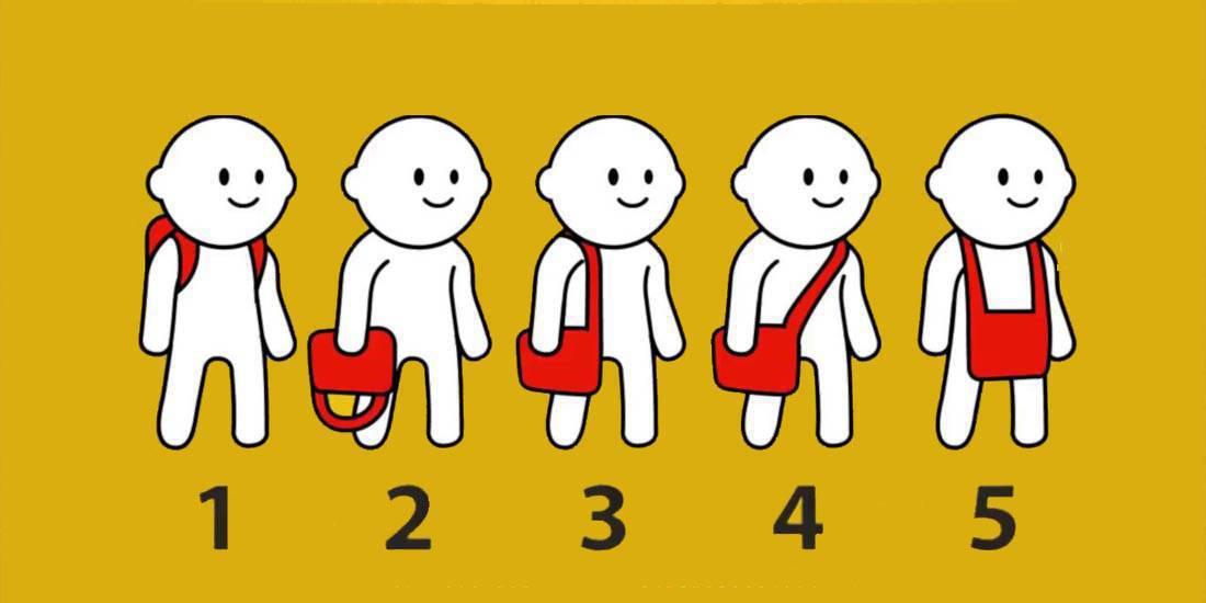 Test: il modo in cui tieni la tracolla rivela la tua personalità