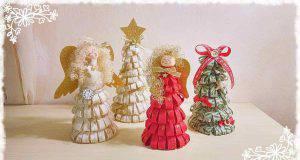 Natale fai da te | Alberi e Angeli natalizi con il feltro