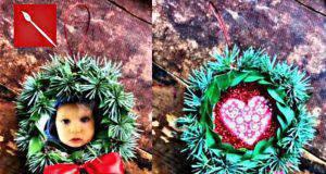 Natale fai da te: ghirlanda portafoto con un tappo -VIDEO-
