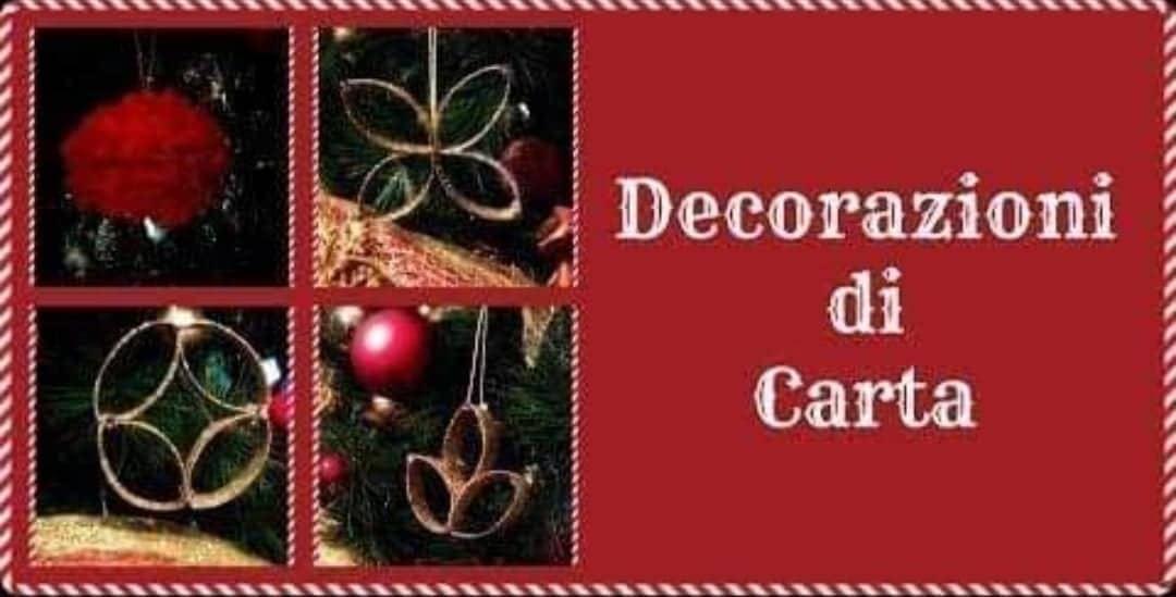 Decorazioni di carta per l'albero di Natale